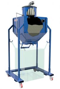 Big-bag silos vakuum tehnik sesalna tehnologija Šrot